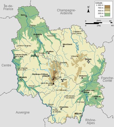 relief de Bourgogne